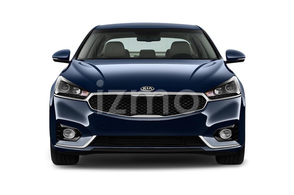 Car photography straight front view of a 2018 KIA Cadenza Premium 4 Door Sedan Front View
