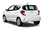 Car pictures of rear three quarter view of 2016 Chevrolet Spark LS Manual 1SA 5 Door Hatchback Angular Rear