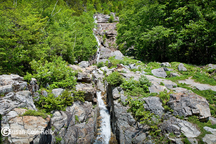 Silver Cascade in Crawford Notch State park, White Mountains, NH, USA