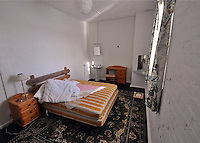COPY BY TOM BEDFORD<br /> Pictured: Interior view of one of the bedrooms<br /> Re: For sale, an island fortress off the Pembrokeshire Coast in west Wales, UK.<br /> Thorne Island is located off the Pembrokeshire coast near the entrance to Milford Haven and about quarter of a miles offshore from the sandy beech of West Angle Bay.<br /> The accommodation is contained primarily on the ground floor level around a large courtyard and had more recently been two bars, cloakrooms, games room, dining room, kitchen, nine bedrooms, a shower room, two bathrooms, a sauna, two self-catering kitchen, a laundry and other ancillary accommodation.