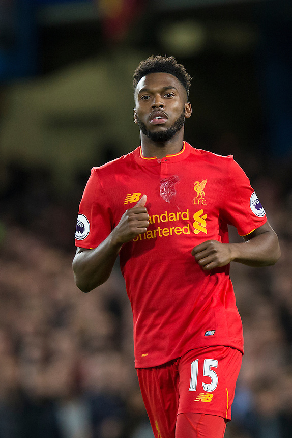 Liverpool's Daniel Sturridge<br /> <br /> Photographer Craig Mercer/CameraSport<br /> <br /> The Premier League - Chelsea v Liverpool - Friday 16th September 2016 - Stamford Bridge - London<br /> <br /> World Copyright &copy; 2016 CameraSport. All rights reserved. 43 Linden Ave. Countesthorpe. Leicester. England. LE8 5PG - Tel: +44 (0) 116 277 4147 - admin@camerasport.com - www.camerasport.com
