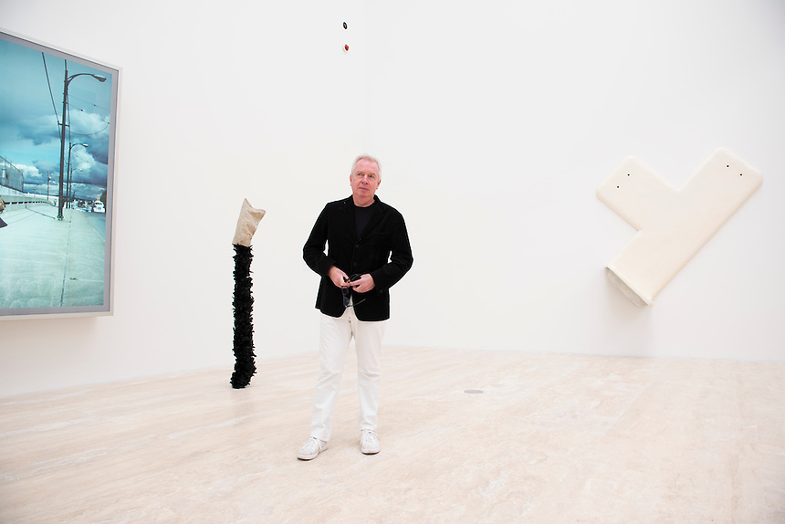 Architect David Chipperfield at his new Jumex Museum.  Mexico City
