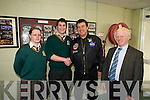 FUN TIME: Students at Killorglin Community College, pictured with Bill Cullen in the school on Friday last. .