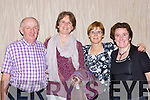 Michael Murphy Rockchapel, Ellen Richmond Valentia, Mary O'Sullivan Caherciveen and Susan O'Connell Valentia enjoying the Friends of Kenya ceili in the Killarney Heights Hotel on Sunday
