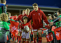 Wales U20's Will Jones leads his team out<br /> <br /> Photographer Alex Dodd/CameraSport<br /> <br /> RBS Six Nations U20 Championship Round 4 - Wales U20s v Ireland U20s - Saturday 11th March 2017 - Parc Eirias, Colwyn Bay, North Wales<br /> <br /> World Copyright &copy; 2017 CameraSport. All rights reserved. 43 Linden Ave. Countesthorpe. Leicester. England. LE8 5PG - Tel: +44 (0) 116 277 4147 - admin@camerasport.com - www.camerasport.com