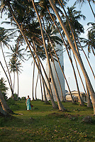 Portrait of handsome figures amongst the island's palm trees -Barberyn (Beruwala) Lighthouse, Sri Lanka