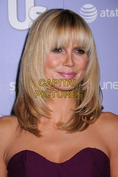 HEIDI KLUM.US Weekly's Hot Hollywood 2008 Party at Beso Restaurant, Hollywood, California, USA..April 17th, 2008.headshot portrait strapless fringe bangs .CAP/ADM/BP.©Byron Purvis/AdMedia/Capital Pictures.