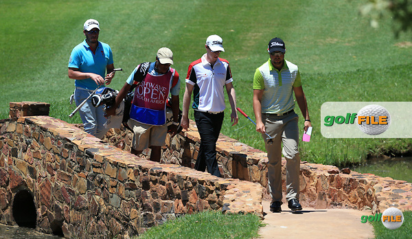 Kevin Phelan (IRL) crossing the bridge to the 14th green during Round Two of the 2016 Tshwane Open, played at the Pretoria Country Club, Waterkloof, Pretoria, South Africa.  12/02/2016. Picture: Golffile | David Lloyd<br /> <br /> All photos usage must carry mandatory copyright credit (&copy; Golffile | David Lloyd)