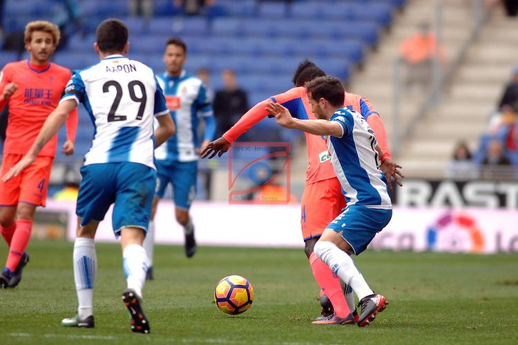 League Santander 2016/2017. Game: 19.<br /> RCD Espanyol vs Granada CF: 3-1.<br /> Krhin vs Piatti.