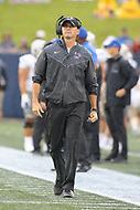 Annapolis, MD - September 8, 2018: Memphis Tigers head coach Mike Norvell  during the game between Memphis and Navy at  Navy-Marine Corps Memorial Stadium in Annapolis, MD.   (Photo by Elliott Brown/Media Images International)