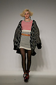 24 February 2009, London Fashion Week. Knitwear collection by Cooperative Designs.