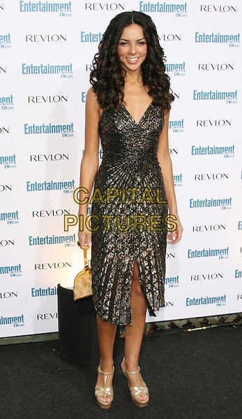 TERRI SEYMOUR .6th Annual Entertainment Weekly Pre-Emmy Awards Party.at the Beverly Hills Post Office, Beverly .Hills, CA, USA, September 20th 2008.full length black dress shiny old shoes platforms sandals .CAP/LNC/TOM.©LNC/Capital Pictures