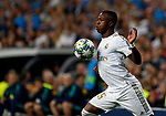Real Madrid CF's Vinicius Jr during UEFA Champions League match, groups between Real Madrid and Club Brugge at Santiago Bernabeu Stadium in Madrid, Spain. October 01, 2019.(ALTERPHOTOS/Manu R.B.)