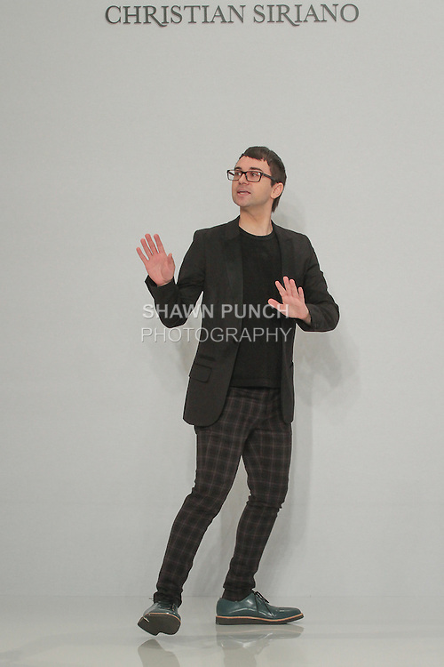 Fashion designer Christian Siriano presents his Christian Siriano for Kleinfeld bridal collection fashion show, at Kleinfeld on April 18, 2016 during New York Bridal Fashion Week Spring Summer 2017.
