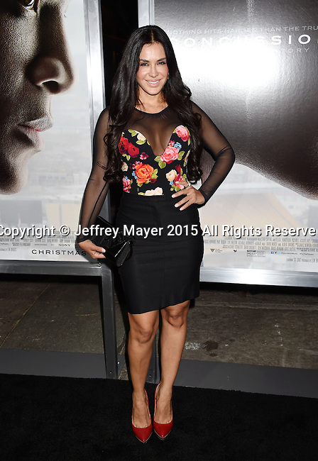 WESTWOOD, CA - NOVEMBER 23: Actress Carla Ortiz attends the screening of Columbia Pictures' 'Concussion' at the Regency Village Theater on November 23, 2015 in Westwood, California.
