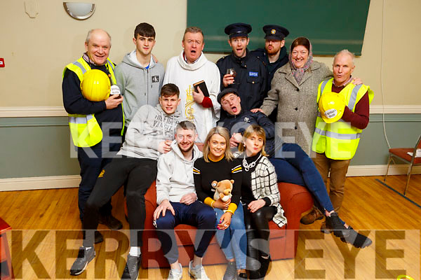 The cast members launching One Ordination and one Donation in Na Gaeil which will be held on February 27th and 28th and March 2nd in the Clubhouse. Seated l to r: Sean O'Donoghue, Dermot Herilhy, Marguerite Maunsel, Sorcha Ní Shuilleabhain and Eoghain Sheehy.<br /> Back l to r: Michael Moynihan, Niall O'Mahoney, Jimmy Adams, Gda Kieran Dineen, Dan O'Connor, Helen Sugrue and Colm O'Suilleabháin.
