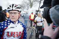 Katie Compton (USA) interviewed<br /> <br /> 2014 UCI cyclo-cross World Championships, Elite Women