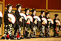 94th annual Azuma Odori dance performance: Dress rehearsal at Shimbashi Enbujo