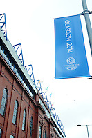 General view of Ibrox Stadium, home of Glasgow Rangers, which is hosting the rugby sevens in the Commonwealth games<br /> <br /> Kenya Vs Wales - men's placing 5-8 match<br /> <br /> Photographer Chris Vaughan/CameraSport<br /> <br /> 20th Commonwealth Games - Day 4 - Sunday 27th July 2014 - Rugby Sevens - Ibrox Stadium - Glasgow - UK<br /> <br /> © CameraSport - 43 Linden Ave. Countesthorpe. Leicester. England. LE8 5PG - Tel: +44 (0) 116 277 4147 - admin@camerasport.com - www.camerasport.com