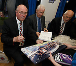 Colin Stein at the Jock Wallace book launch at the Rangers megastore with ex-Rangers team mates John MacDonald and Colin Jackson