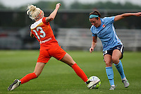 Piscataway, NJ - Saturday July 09, 2016: Denise O'Sullivan, Erin Simon during a regular season National Women's Soccer League (NWSL) match between Sky Blue FC and the Houston Dash at Yurcak Field.