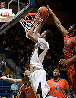 Richard Solomon of California shoots the ball during the game against Oregon State Beavers at Haas Pavilion in Berkeley, California on January 31st, 2013.  California defeated Oregon State, 71-68.