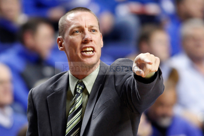 Boise State head coach Leon Rice showing emotion during the second half of the UK basketball game vs. Boise State on Tuesday, December 10, 2013, in Lexington, Ky. Photo by Kalyn Bradford | Staff