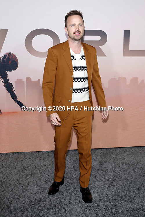 """LOS ANGELES - MAR 5:  Aaron Paul at the """"Westworld"""" Season 3 Premiere at the TCL Chinese Theater IMAX on March 5, 2020 in Los Angeles, CA"""