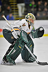 3 December 2011: University of Vermont Catamount goaltender John Vazzano, a Senior from Trumbull, CT, making his first college career start, in first period action against the University of Maine Black Bears at Gutterson Fieldhouse in Burlington, Vermont. The Catamounts fell to the Black Bears 5-2 in the second game of their 2-game Hockey East weekend series. Mandatory Credit: Ed Wolfstein Photo