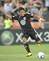 Andy Najar #14 of D.C. United during an MLS match against the Houston Dynamo at RFK Stadium in Washington D.C. on September  25 2010. Houston won 3-1.