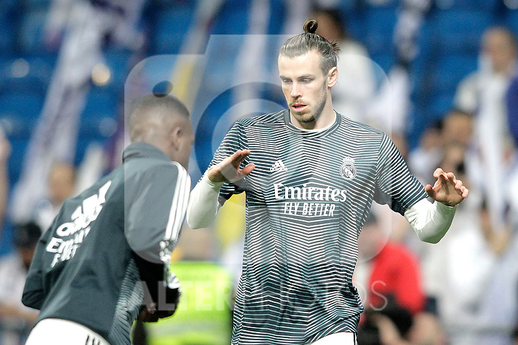Real Madrid CF's Vinicius Junior and Gareth Bale during La Liga match. February 27,2019. (ALTERPHOTOS/Alconada)