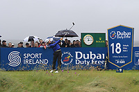 Liam Johnston (SCO) tees off the 18th tee during Saturday's Round 3 of the Dubai Duty Free Irish Open 2019, held at Lahinch Golf Club, Lahinch, Ireland. 6th July 2019.<br /> Picture: Eoin Clarke | Golffile<br /> <br /> <br /> All photos usage must carry mandatory copyright credit (© Golffile | Eoin Clarke)
