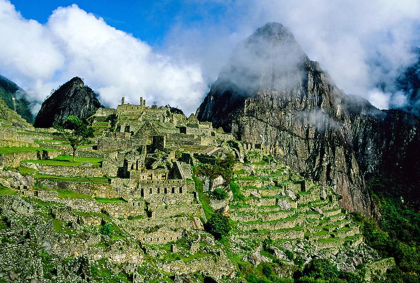 Inca Ruins, Machu Picchu archaeological site, Peru