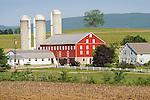 Spring farmscape.