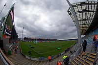 Photographer Bob Bradford/CameraSport<br /> <br /> Gallagher Premiership - Exeter Chiefs v Wasps - Sunday 14th April 2019 - Sandy Park - Exeter<br /> <br /> World Copyright © 2019 CameraSport. All rights reserved. 43 Linden Ave. Countesthorpe. Leicester. England. LE8 5PG - Tel: +44 (0) 116 277 4147 - admin@camerasport.com - www.camerasport.com