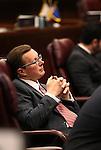 Nevada Sen. Ben Kieckhefer, R-Reno, works on the Senate floor at the Legislative Building, in Carson City, Nev., on Friday, Feb. 20, 2015. <br /> Photo by Cathleen Allison