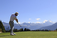 Soren Kjeldsen (DEN) tees off the 7th tee during Sunday's Final Round 4 of the 2018 Omega European Masters, held at the Golf Club Crans-Sur-Sierre, Crans Montana, Switzerland. 9th September 2018.<br /> Picture: Eoin Clarke | Golffile<br /> <br /> <br /> All photos usage must carry mandatory copyright credit (© Golffile | Eoin Clarke)