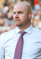 Burnley manager Sean Dyche<br /> <br /> Photographer Alex Dodd/CameraSport<br /> <br /> UEFA Europa League - Europa League Qualifying Round 2 2nd Leg - Burnley v Aberdeen - Thursday 2nd August 2018 - Turf Moor - Burnley<br />  <br /> World Copyright © 2018 CameraSport. All rights reserved. 43 Linden Ave. Countesthorpe. Leicester. England. LE8 5PG - Tel: +44 (0) 116 277 4147 - admin@camerasport.com - www.camerasport.com