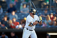 Mason Martin (23) of the West Virginia Power at bat against the Lexington Legends at Appalachian Power Park on June 7, 2018 in Charleston, West Virginia. The Power defeated the Legends 5-1. (Brian Westerholt/Four Seam Images)