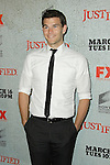 JOSH HELLMAN. Arrivals to the premiere screening of the FX original drama series, Justified, at the Directors Guild of America. Los Angeles, CA, USA. March 8, 2010.