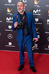 Javier Gutierrez receives the Best Actor Award during Feroz Awards 2018 at Magarinos Complex in Madrid, Spain. January 22, 2018. (ALTERPHOTOS/Borja B.Hojas)