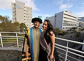 Muhammad Yunus (here photographed with daughter Monica - a New York based soprano) becomes Chancellor of Glasgow Caledonian University - the Bangladeshi banker and economist is a Nobel Peace Prize recipient and a Director of the United Nations Foundation - he has also appeared in The Simpsons! - picture by Donald MacLeod - 26.10.12 - 07702 319 738 - clanmacleod@btinternet.com - www.donald-macleod.com