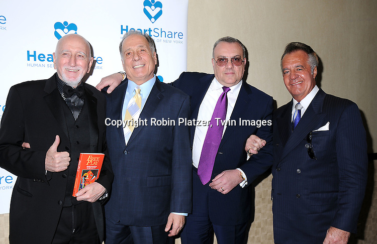 "Dominic Chianese, Arthur Nascarella, Vincent Curatola and honoree Tony Sirico.at The HeartShare Human Services of New York Spring Gala and Auction on April 8, 2008 at The Marriott .Marquis Hotel in New York City. Cameron Mathison of ""All My Children""  and Tony Sirico of ""The Sopranos"" were honored. ..Robin Platzer, Twin Images"
