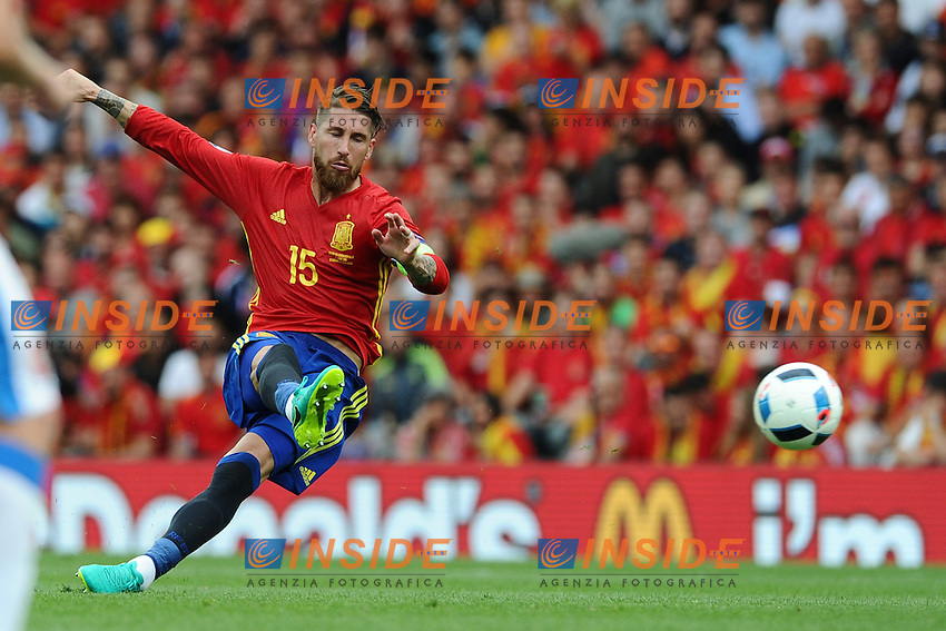 Sergio Ramos Spain <br /> Toulouse 13-06-2016 Stade de Toulouse Footballl Euro2016 Spain - Czech Republic  / Spagna - Repubblica Ceca Group Stage Group D. Foto Thierry Breton / Panoramici / Insidefoto