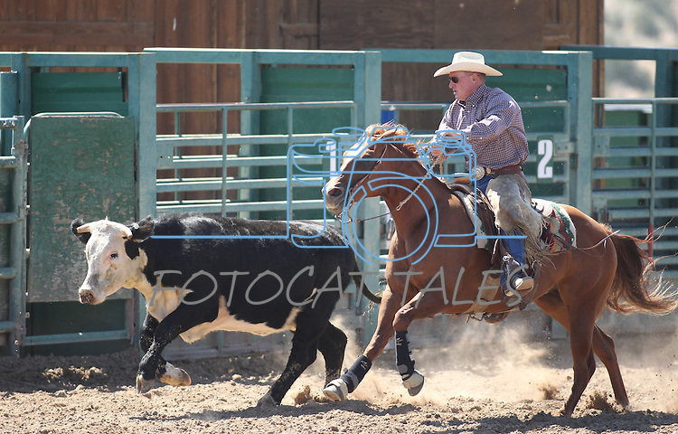 Brent Tadman competes in the ranch horse class slack event at the Minden Ranch Rodeo on Saturday, July 23, 2011, in Gardnerville, Nev. .Photo by Cathleen Allison