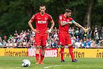 20.07.2019, Heinz-Dettmer-Stadion, Lohne, GER, Interwetten Cup, VfL Osnabrueck vs 1. FC Koeln<br /><br />im Bild<br />Darko Churlinov (Koeln #39), <br />Marco Höger / Hoeger (Koeln #06) Kapitän / mit Kapitänsbinde, <br /><br />Foto © nordphoto / Ewert