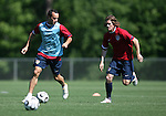 12 May 2006: Landon Donovan (l) and John O'Brien (r) during a scrimmage. The United States' Men's National Team trained at SAS Soccer Park in Cary, NC, in preparation for the 2006 FIFA World Cup tournament to be played in Germany from June 9 through July 9, 2006.