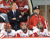 Pertti Hasanen is serving as an Assistant Coach when Head Coach Jack Parker is unable to serve on the bench. - The Boston University Terriers defeated the visiting University of Toronto Varsity Blues 9-3 on Saturday, October 2, 2010, at Agganis Arena in Boston, MA.