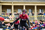 Christopher Froome (GBR) Team Ineos at sign on before Stage 4 of the 2019 Tour de Yorkshire, running 175km from Halifax to Leeds, Yorkshire, England. 5th May 2019.<br /> Picture: ASO/SWPix | Cyclefile<br /> <br /> All photos usage must carry mandatory copyright credit (© Cyclefile | ASO/SWPix)