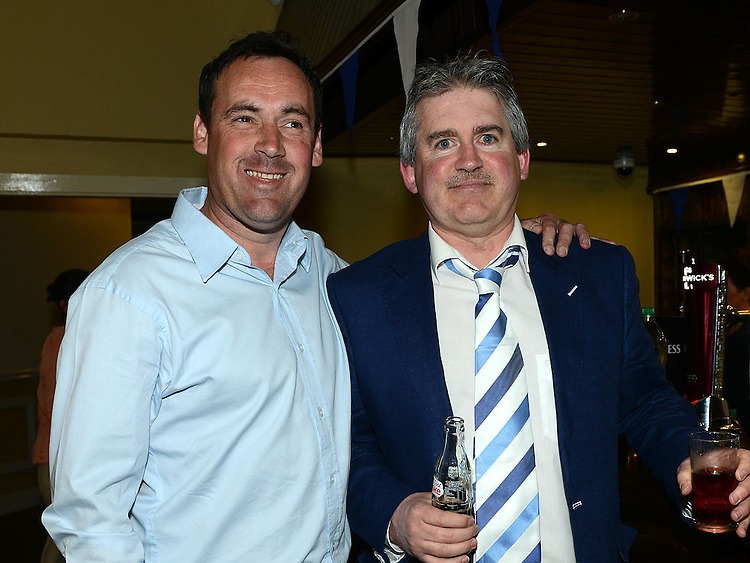 Gerry Neacy and Aidan King pictured at the Lannleire GFC awards dinner in the Grove hotel. Photo:Colin Bell/pressphotos.ie
